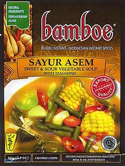 インドネシア料理 サユールアッサムの素 - SAYUR ASEM 【bamboe】(FD-LOJ-72)