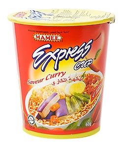 インスタント ヌードル カレー味  カップ 付き 【MAMEE】