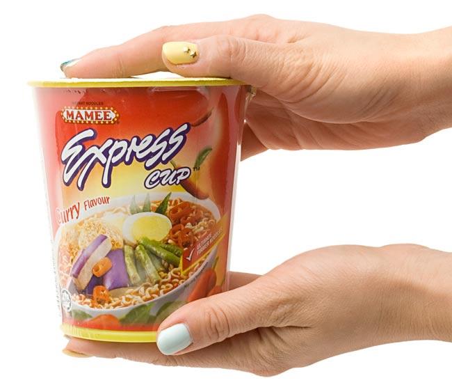 インスタント ヌードル カレー味  カップ 付き 【MAMEE】 3 - 大きさはこのくらいです。