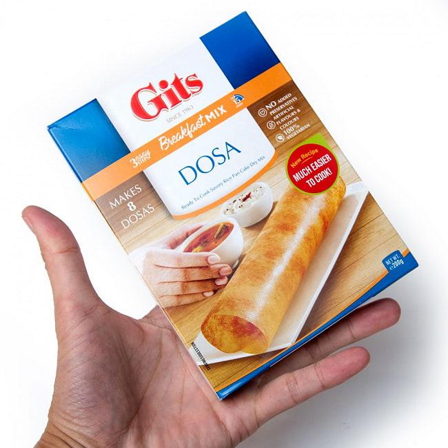 南インドの軽食 ドーサの素 - Dosai  Mix 【Gits】 4 - パッケージの裏面です