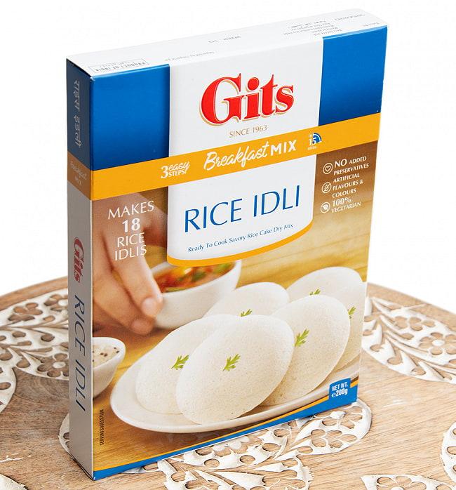 インドの軽食 ライス イドリーの素 - RICE IDLI Mix 【Gits】 2 - 見た目、甘そうに見えますが、実は酸味があり少し酸っぱいです。でもサンバルやチャツネによく合います。