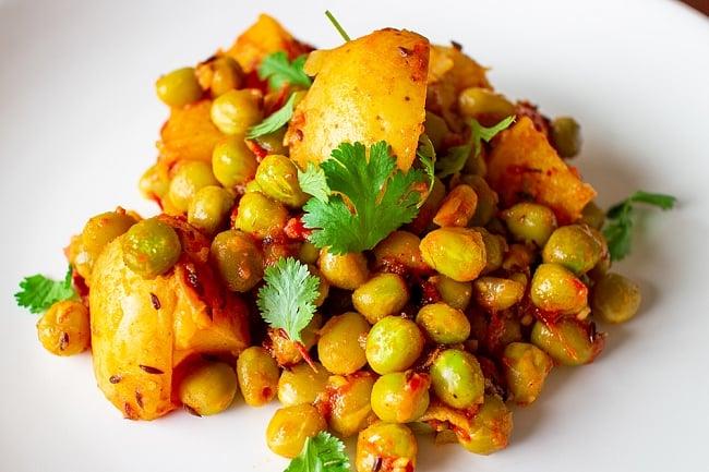 【大粒】乾燥グリーンピース 1Kg インドネパールのスパイスおかずに! 6 - アルマタルなどのインドおかず作りにぴったりです。食べごたえがありますよ!