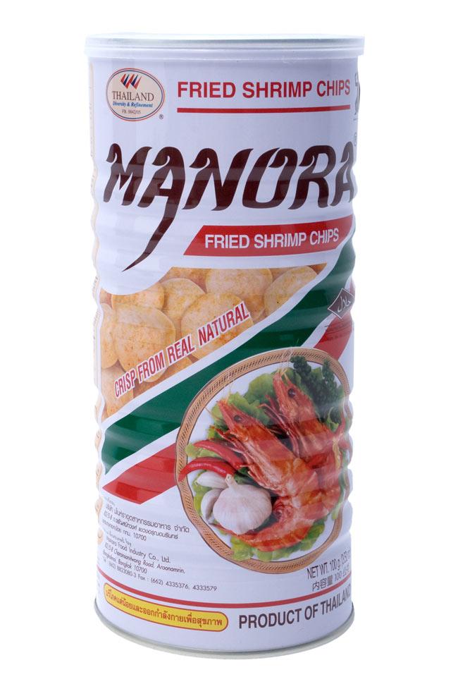 フライドシュリンプチップス - Lサイズ缶【Manora】の写真