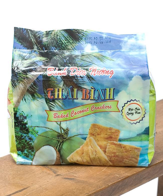ベトナムスナック ココナッツクラッカー【THAI BINH】の写真2 - ベトナムチックな袋がたまらない。