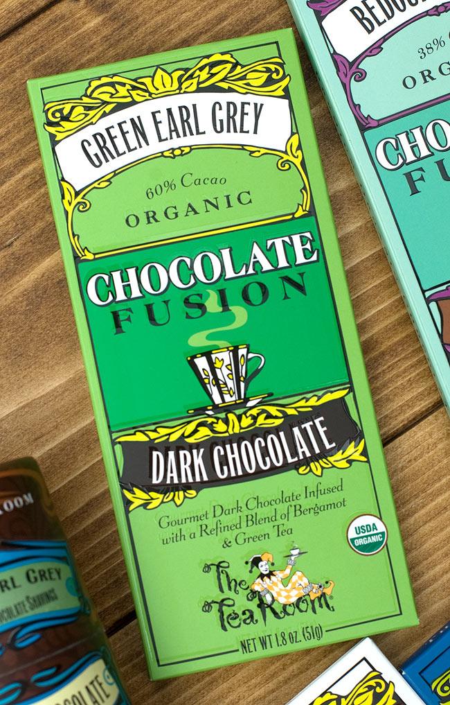 【冬季限定】オーガニックチョコレート - グリーン アール グレー - Green Earl Grey 【The Tea Room】の写真2 - 有機の原料を使ったオーガニックチョコレートです。開けた時の香りもお楽しみ下さい。