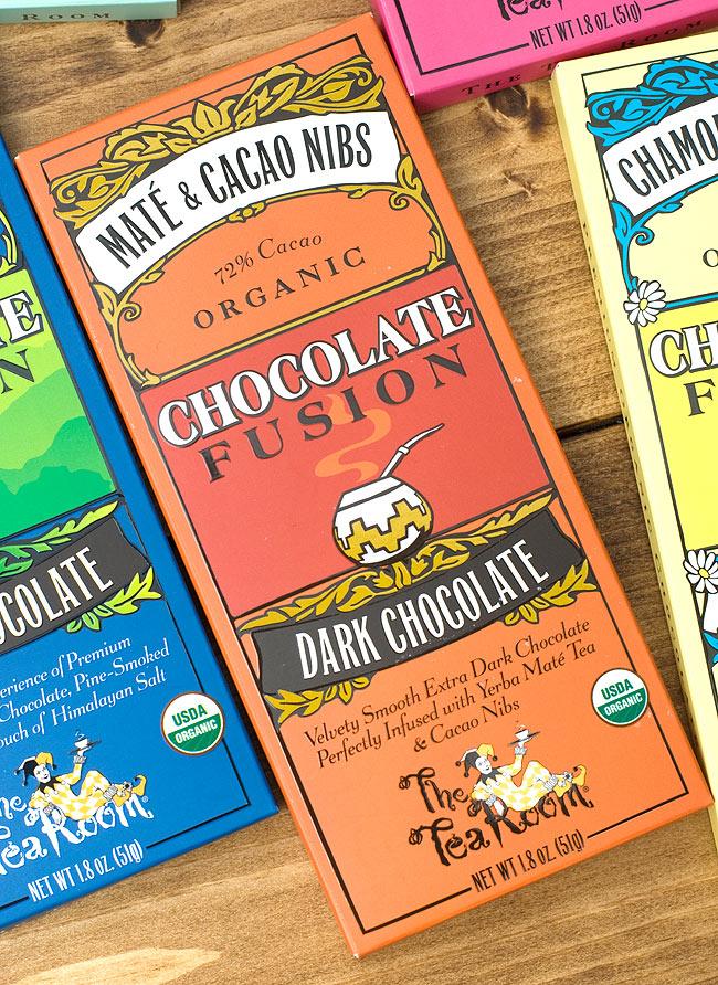 【冬季限定】オーガニックチョコレート - マテ &カカオニブ - Mate &Cacao Nibs 【The Tea Room】 2 - 有機の原料を使ったオーガニックチョコレートです。開けた時の香りもお楽しみ下さい。