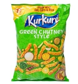 インドのスナック KurKure【Green Chutney Style味】(FD-SNK-218)