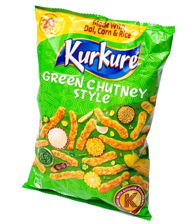 インドのスナック KurKure【Green Chutney Style味】 2 - この様なパッケージでお送りします
