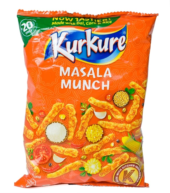 インドのスナック KurKure【Masala Munchi味】の写真