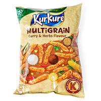 インドのスナック KurKure【MuLTiGRAiN Curry & Herbs Flavour カレーとハーブ味】