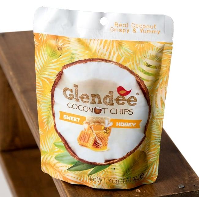 ココナッツチップス - スイート・ハニー味 【Glendee】 2 - 斜めから撮影しました