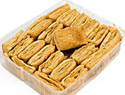 プレーン カリ パイ(100g)− Plain Khariの写真 - こちらのようなパイが入っています。こちらの写真は200gのものを撮影したものです。こちらの商品は100gですので、実際は、この半量になります。