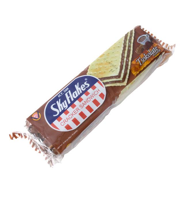クラッカー サンドイッチ・ココアラテ味 − Cracker Sandwich TsokolateFlavor 【SkyFlakes】 2 - 10個入りです。