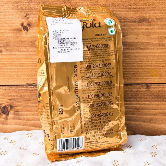 チャイ用紅茶- TATA TEA Gold CTC (袋入り)【250g】 2 - ラベルを拡大しました