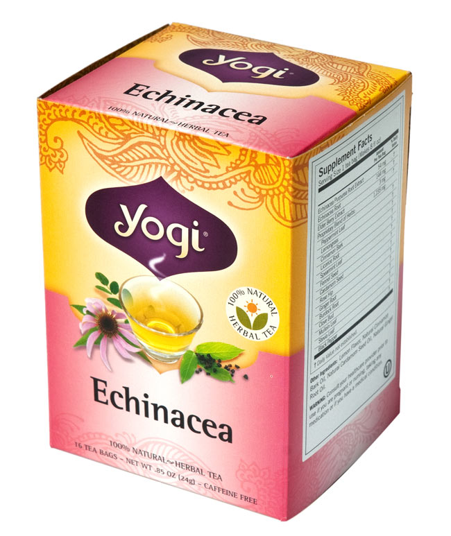 エキナセア【Yogi tea ヨギティー】 2 - 目でも癒されます。ヨギティによっては、オーガニックの原材料を使用しています。