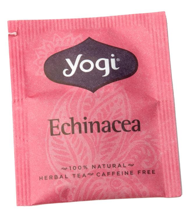 エキナセア【Yogi tea ヨギティー】 4 - パッケージ写真です。箱の中にティーパックが16個程度入っています。