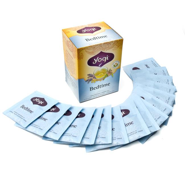 ベッドタイム【Yogi tea ヨギティー】 - ひと箱に16パッケージ入っています。たっぷり楽しめます。
