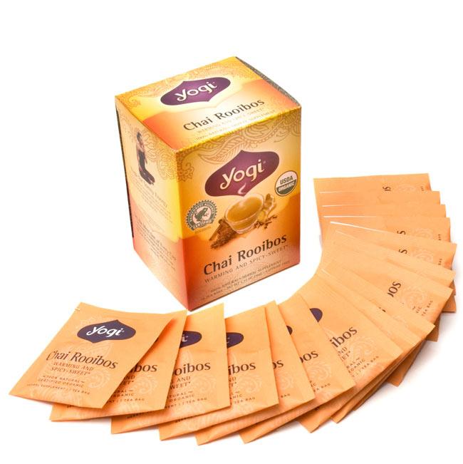 ルイボスチャイ【ヨギティー yogi tea】 - 中は、一包づつ個包装になっています。