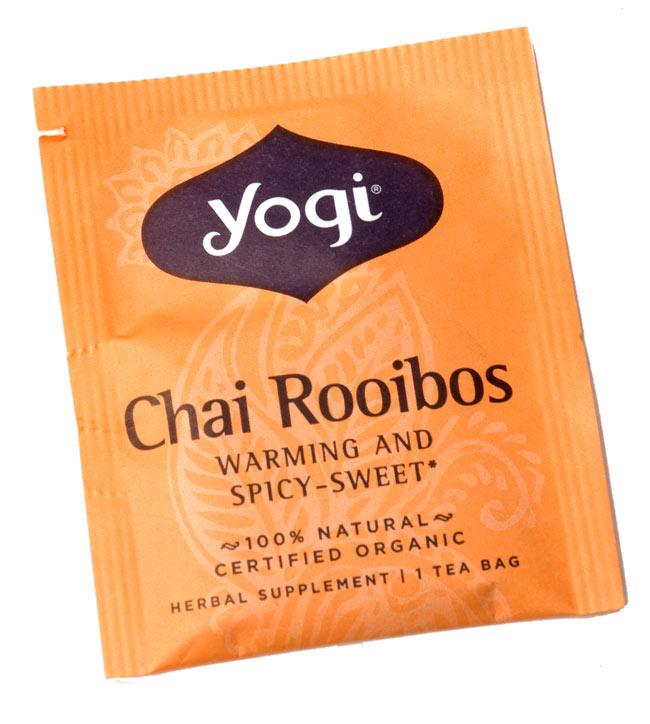 ルイボスチャイ【ヨギティー yogi tea】 - 個別包装もメヘンディの凝ったデザインで素敵です。