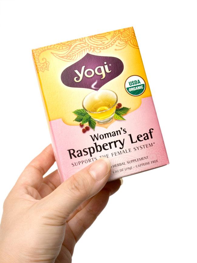 ウーマンズ・ラスベリーリーフ【Yogi tea ヨギティー】 - 手に持ってみました。横から開けるタイプで、そのまま収納に使えます。外箱を飾てもおしゃれ。