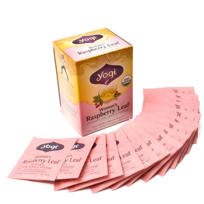 ウーマンズ・ラスベリーリーフ【Yogi tea ヨギティー】 - ひと箱に16パッケージ入っています。たっぷり楽しめます。