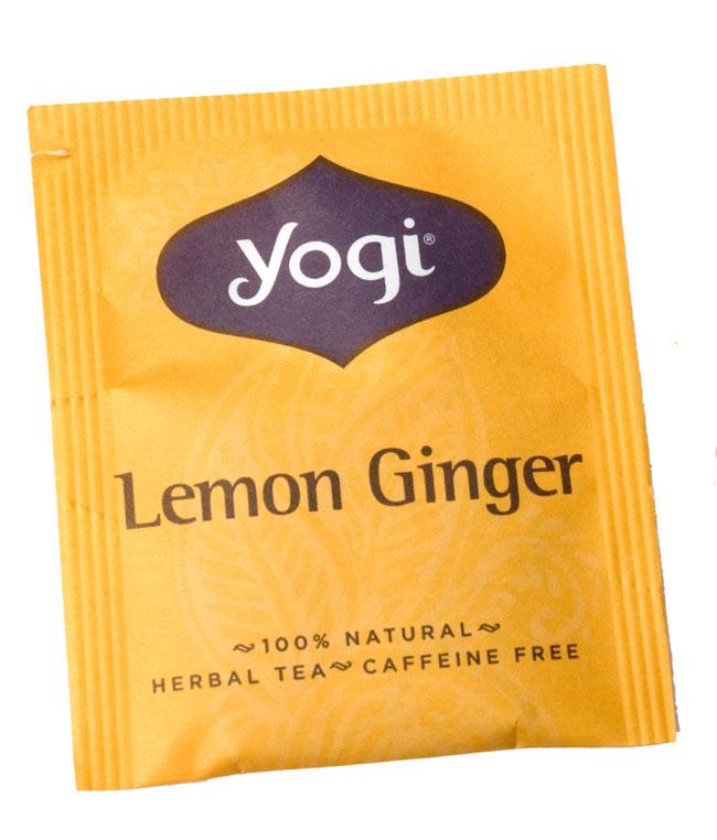 レモンジンジャー【Yogi tea ヨギティー】 - 個包装もおしゃれなメヘンディ柄がありますよ。