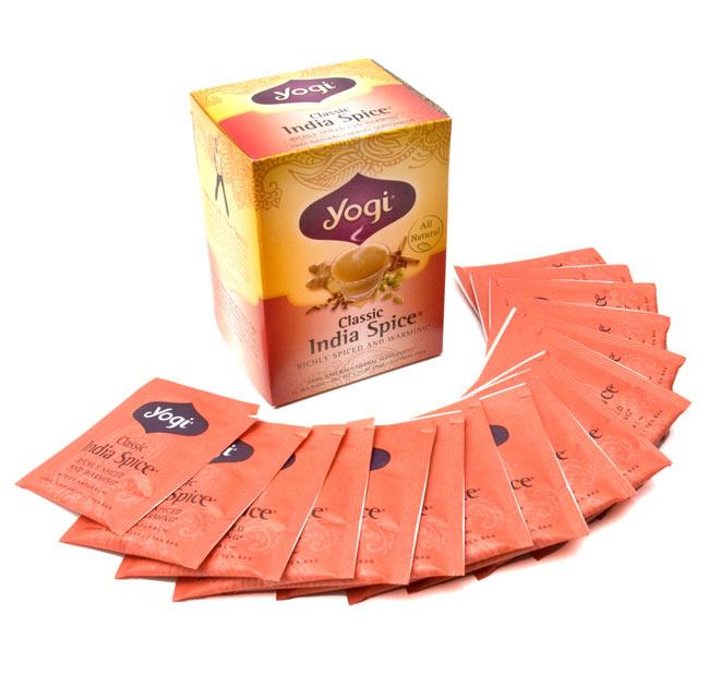 クラシックインドスパイス【Yogi tea ヨギティー】の写真4 - ひと箱に16パッケージ入っています。たっぷり楽しめます。