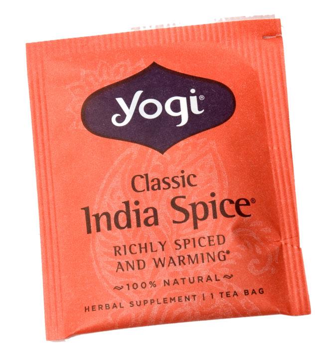 クラシックインドスパイス【Yogi tea ヨギティー】 5 - 個包装もおしゃれなメヘンディ柄がありますよ。