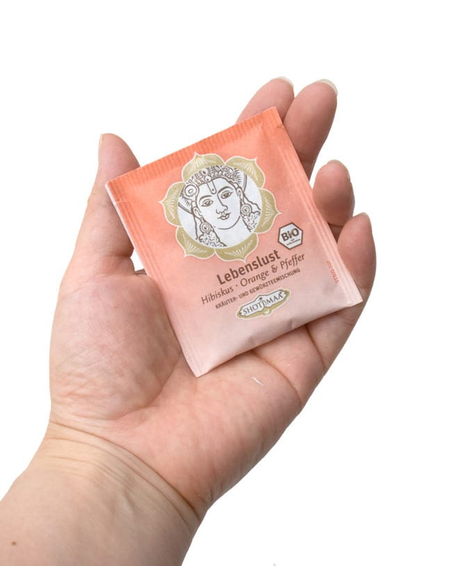 オーガニック ハーブ ティー Delighted 歓喜 〜 ブッダ 〜 【Hari s Treasure】 4 - パックは一つづ小包装で、せいけつそうです。