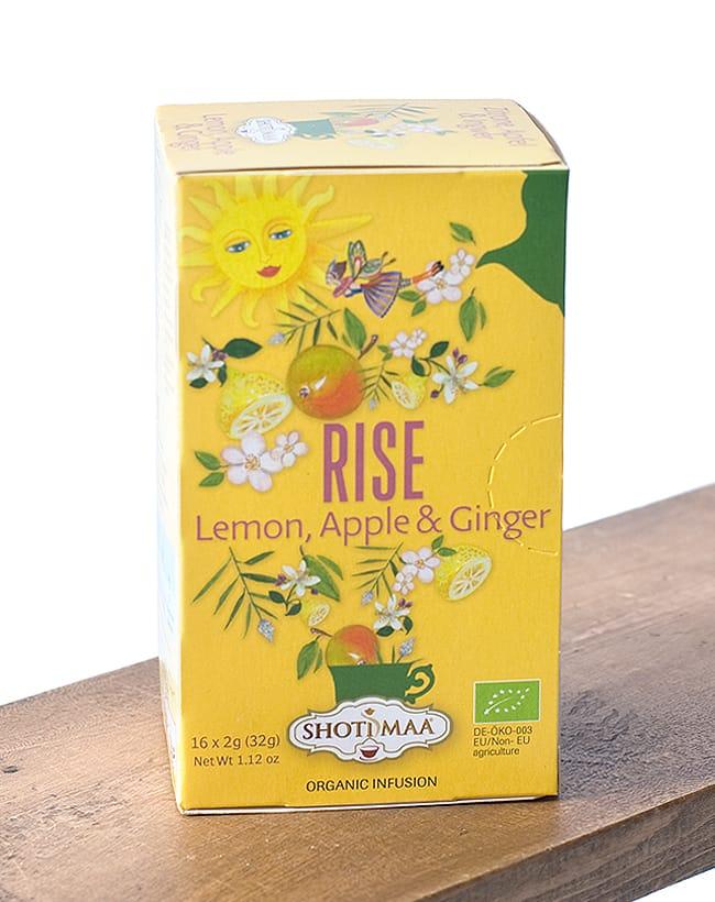 オーガニック ハーブ ブレンド ティー(lemon,apple&ginger) Life is beautiful 〜Rise〜【Haris Treasure】 2 - オランダ語でも書かれています。