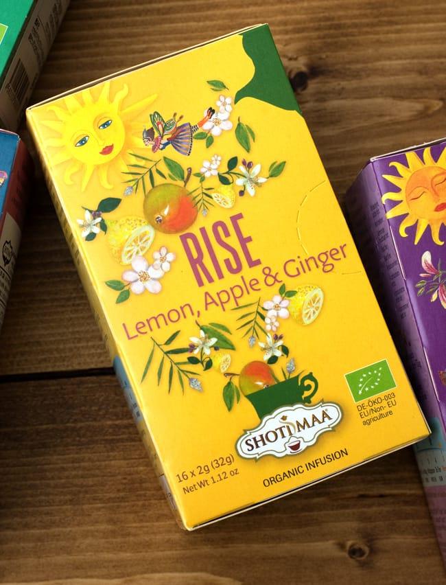 オーガニック ハーブ ブレンド ティー(lemon,apple&ginger) Life is beautiful 〜Rise〜【Haris Treasure】の写真