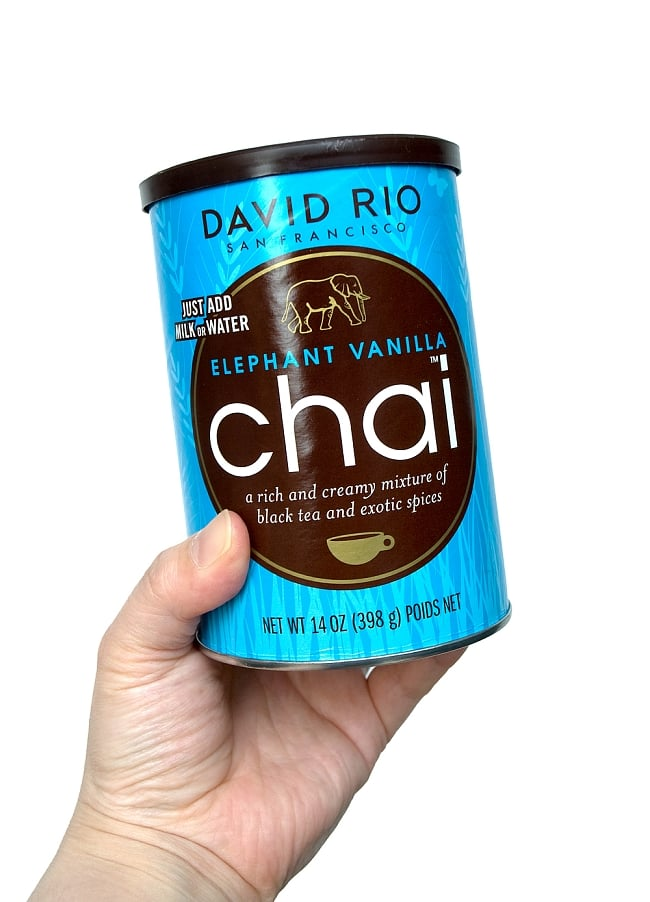チャイ エレファントバニラ − Chai ELEPHANT VANILLA 【DAVID RIO】 3 - 熱いお湯又はホットミルクに本品を溶かすだけの簡単レシピ。
