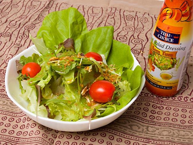 タイ サラダ ノンオイル ドレッシング [200ml] 【Thai Choice】 2 - サラダにかけてみました。