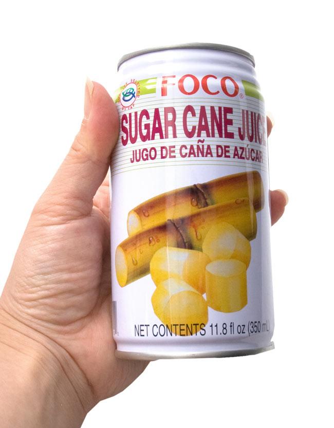 サトウキビジュース(甘庶汁) 缶 [350ml] 【FOCO】 2 - 手に持ってみました