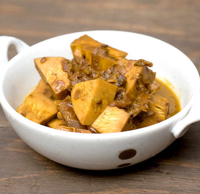 """ヤング グリーン ジャック フルーツ[565g](AROY-D) 5 - カレーにしてみるとこんな感じです。レシピは<a href=""""http://recipe.tirakita.com/recipe/276/"""">こちら!</a>"""