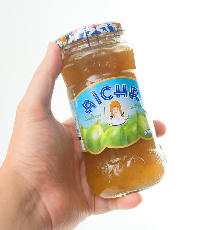 イチジク ジャム【Aicha】 3 - 手にとって見るとこれくらいの大きさです。ずっしりと質感がうれしいです