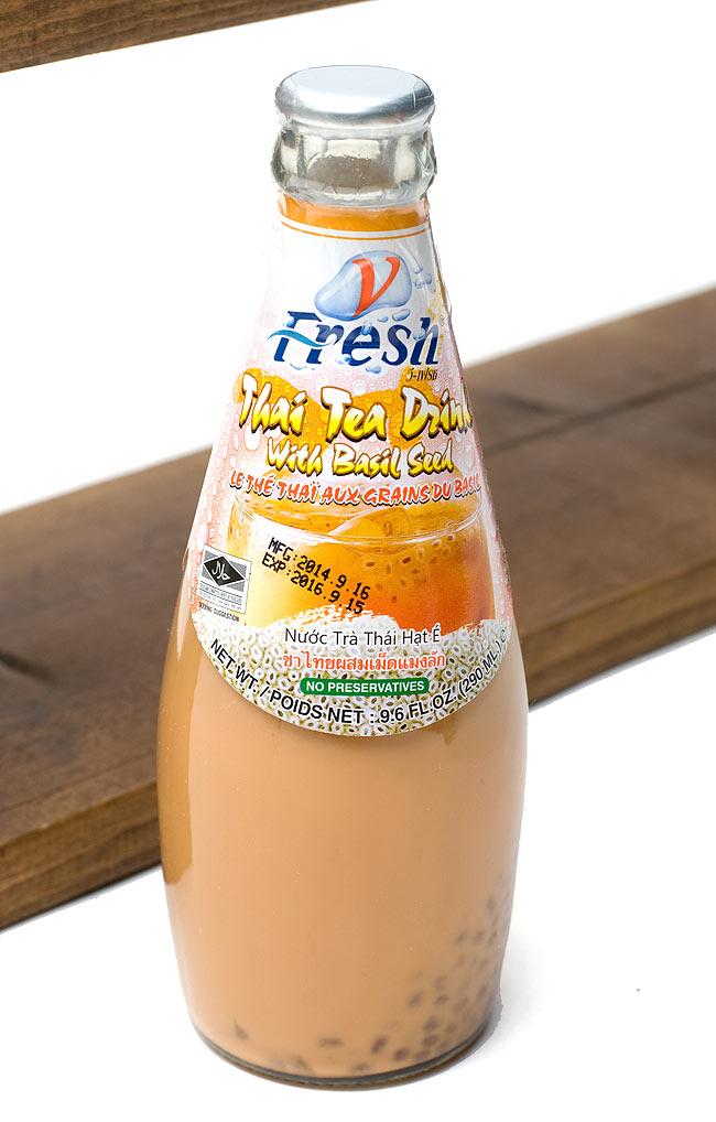 バジルシードドリンク 瓶 タイミルクティー味 【V-Fresh】の写真