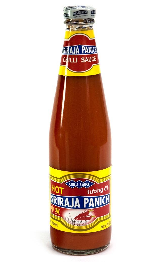チリ ソース シラジャ 瓶 Lサイズ ミディアム ホット [570g]の写真