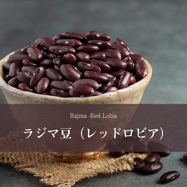 ラジマ豆(レッドロビア) Rajma (Red Lobia) 【1kgパック】の写真1