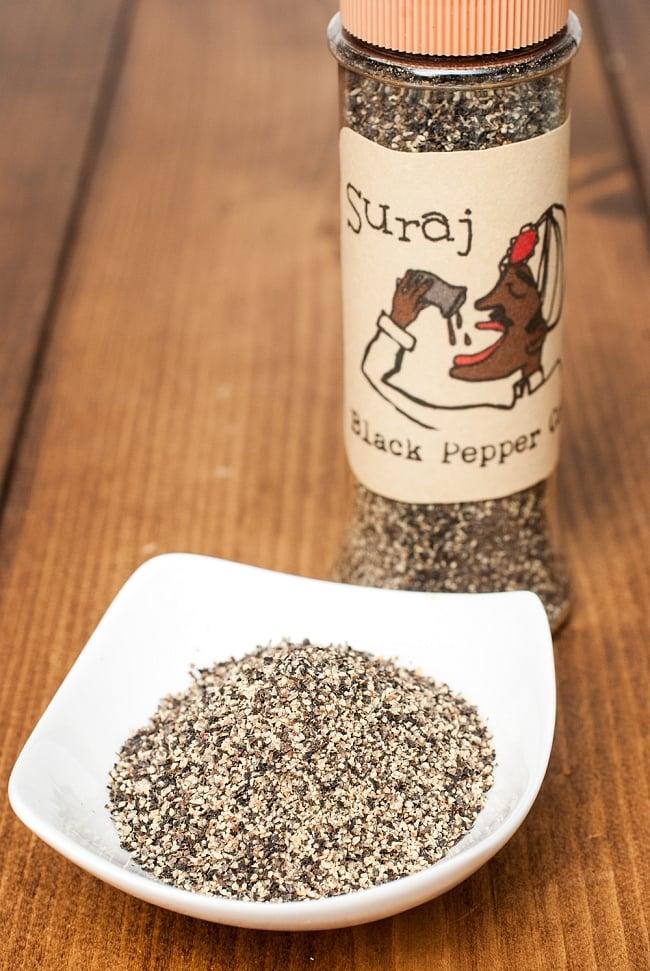ブラックペッパーパウダー(粗挽き) Black Pepper Corsa [50gボトル入り]の写真