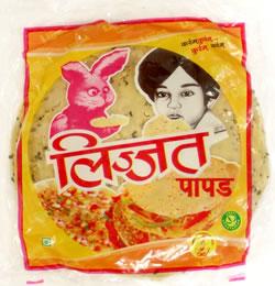 パパド プンジャビ マサラ (小14cm) Punjabi Masala Papad  (lijjat)の写真