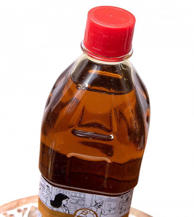 マスタード オイル - Mustard Oil 910ml 4 - 頭の部分をアップにしました