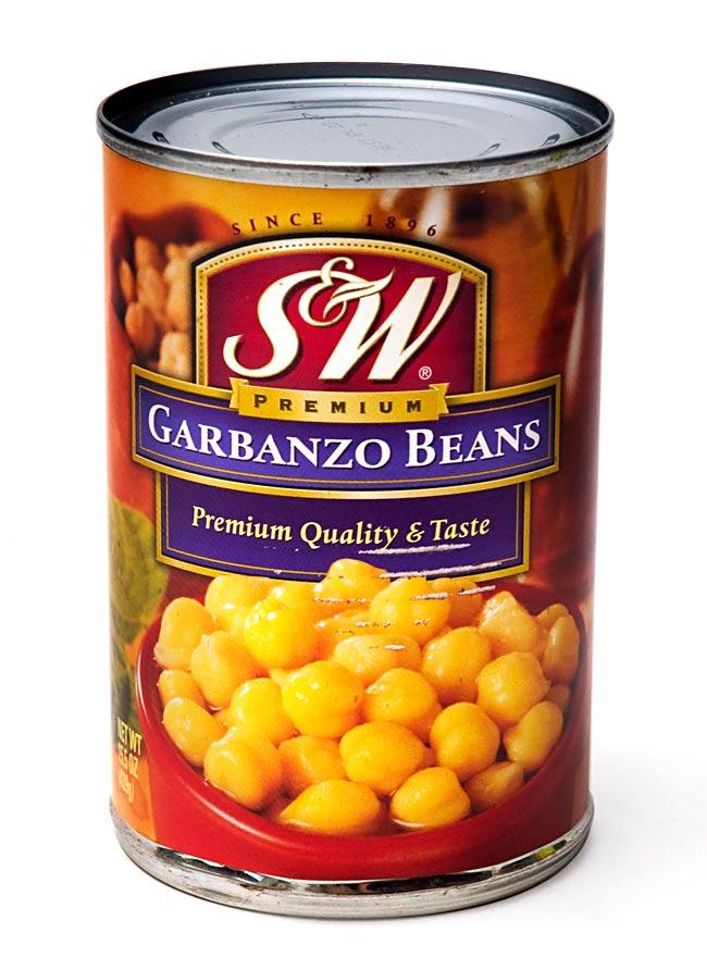 ひよこ豆 缶詰 - Garbanzo Beans 【439g】 S&Wの写真