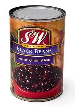 ブラック ビーンズ 缶詰 - Black Beans 【425g】 S&W