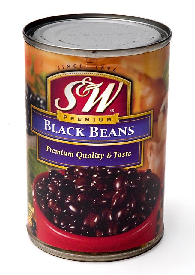 ブラック ビーンズ 缶詰 - Black Beans 【425g】 S&Wの写真