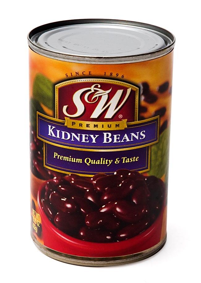 キドニー ビーンズ 缶詰 - Red Kidney Beans 【432g】 S&Wの写真