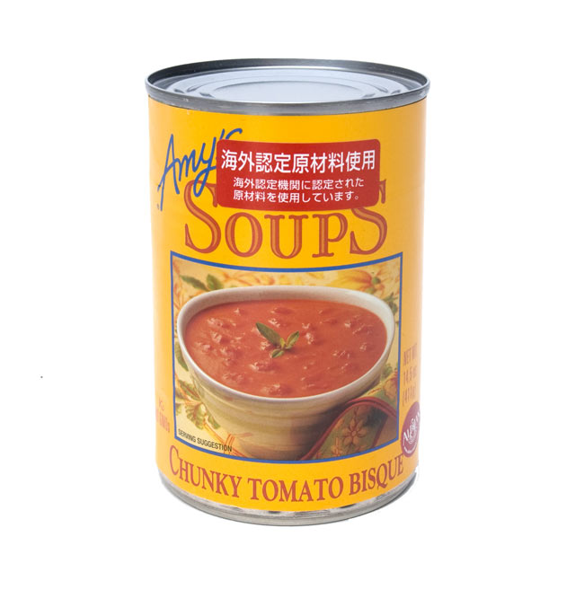 チャンキー トマト スープ 缶 - Chunky Tomato Bisque Soup 【Amy's Kitchen】 1