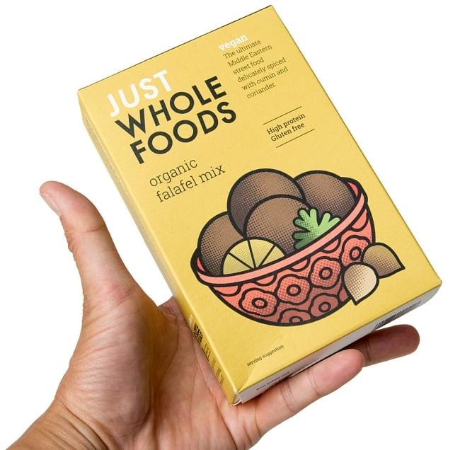 【オーガニック】ファラフェル ミックス - Falafel 【Just Wholefoods】 4 - この一箱で約3cmサイズのファラフェルを約10個程出来ます。お手頃サイズ。