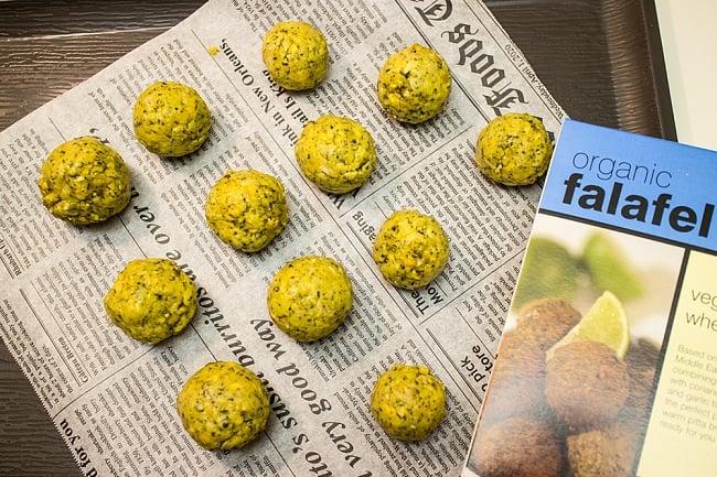 【オーガニック】ファラフェル ミックス - Falafel 【Just Wholefoods】 5 - 調理してみました(写真は古いデザインのパッケージです)