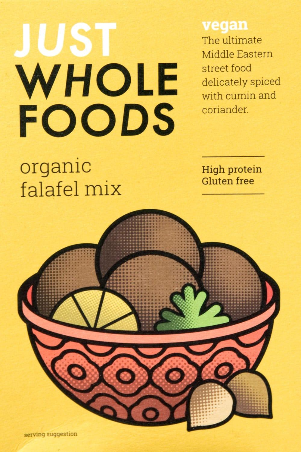 【オーガニック】ファラフェル ミックス - Falafel 【Just Wholefoods】 7 - パッケージの全体写真です